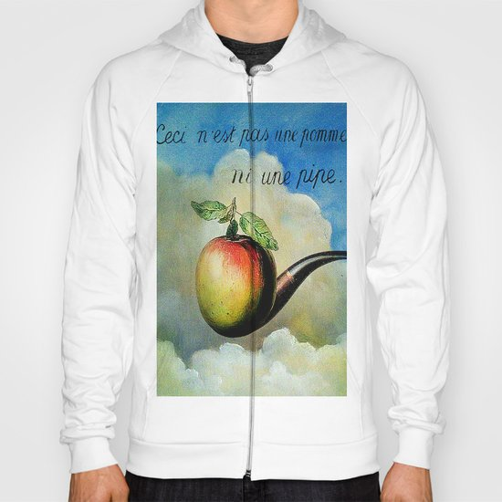 Ceci n'est pas une pomme ni une pipe Hoody