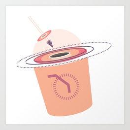 Into the Black Hole Cafe Art Print