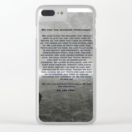warrior princess Clear iPhone Case