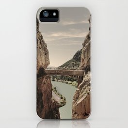 """""""The most dangerous trail in the world II"""". El Caminito del Rey  iPhone Case"""