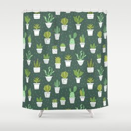 Cactuses. Succulents. Shower Curtain