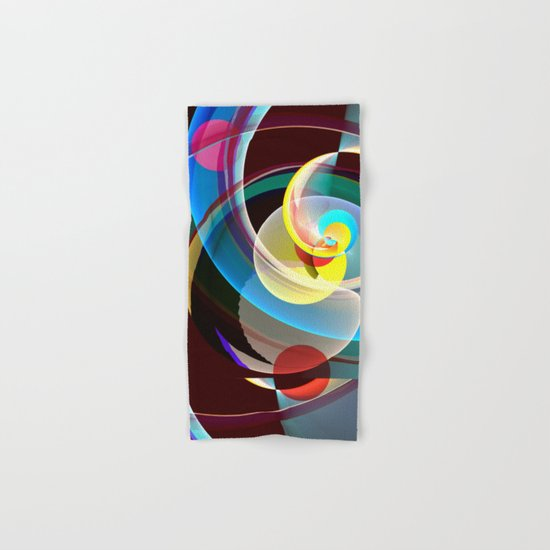 Modern colourful abstract with circles in motion Hand & Bath Towel