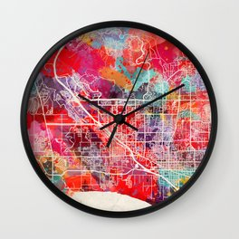 Lehi map Utah UT Wall Clock