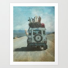 NEVER STOP EXPLORING II SUMMER EDITION Art Print