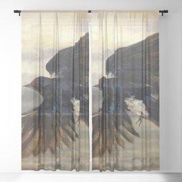 Blue Wings Sheer Curtain