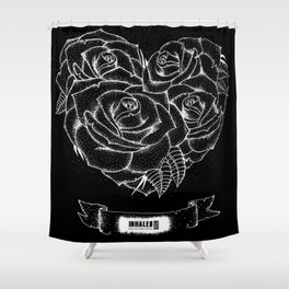 """""""Like roses, we blossom and die""""- BMTH Shower Curtain"""