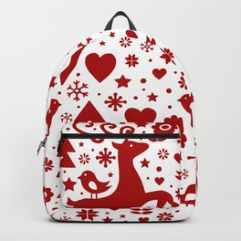 Scandinavian Christmas pattern Backpack