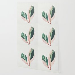 Pink Leaves I Wallpaper