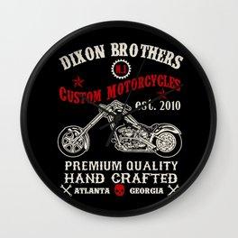 D Brothers Custom Motorcycles Wall Clock