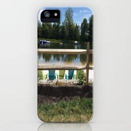 Sunny Lake Beach iPhone Case