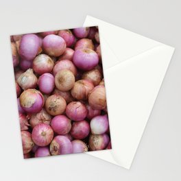 Food Illustration Onions Stationery Cards