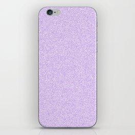 Melange - White and Light Violet iPhone Skin