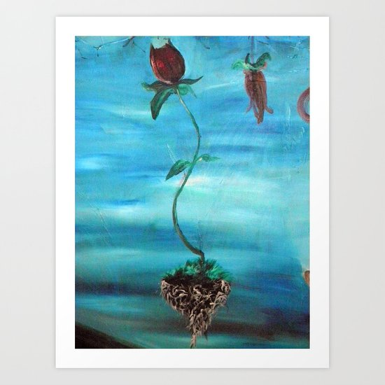 Floating Tulip Art Print