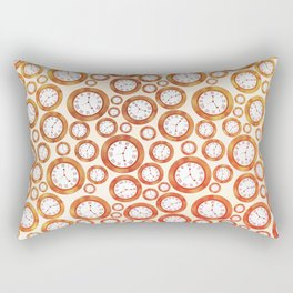 Clock Pattern Rectangular Pillow