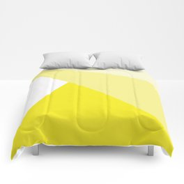 Simple Geometric Triangle Pattern - White on Yellow - Mix & Match with Simplicity of life Comforters