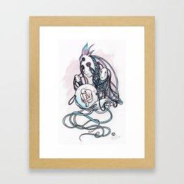 Masques de la machine Framed Art Print