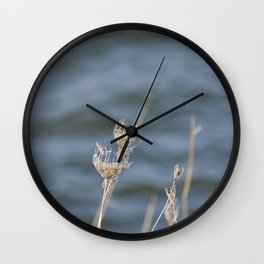 White and Blue Wall Clock