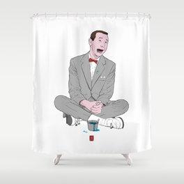 PEE-WEE HERMAN SMURF ICE CREAM Shower Curtain