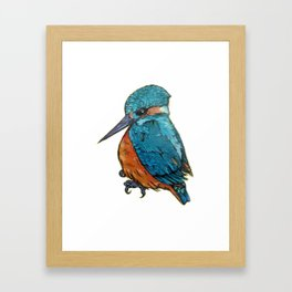 L'il Lard Butt - The Kingfisher Framed Art Print