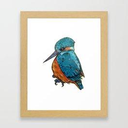 L'il Lard Butt - The Kingfisher Framed Art Print