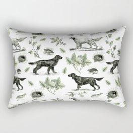 BIRD DOGS & GREEN LEAVES Rectangular Pillow