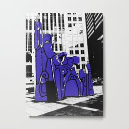 Chicago art print - art sculpture, 'Monument with Standing Beast' - urban photography Metal Print