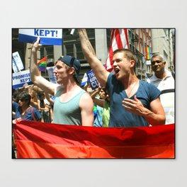 Gay Pride Parade Marchers  Canvas Print
