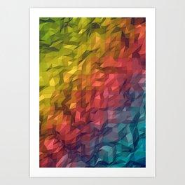 Poly Colours  Art Print