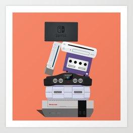 Nintendo Consoles Art Print