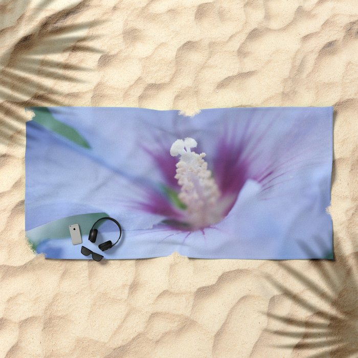 Soft Purple Hibiscus Flower #1 #art #society6 Beach Towel