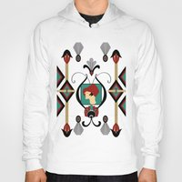 art deco Hoodies featuring Art Deco Lady by naturessol