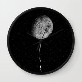 Moon balloon Wall Clock