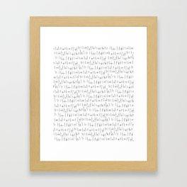 butts butts butts Framed Art Print