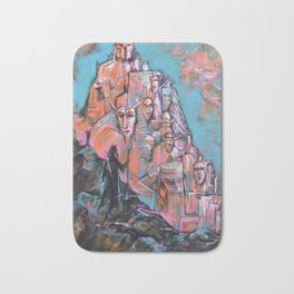 Approaching the City of Shadows Bath Mat
