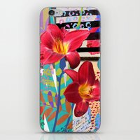 lily iPhone & iPod Skins featuring Lily by Crystal Manning
