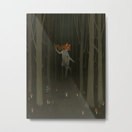 In The Woods Somewhere Metal Print