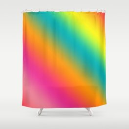 Blended Rainbow Time To Feel Good Shower Curtain
