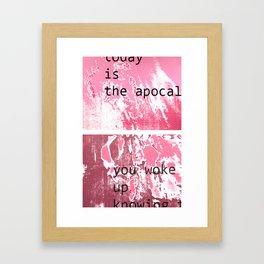 The apocalypse Framed Art Print