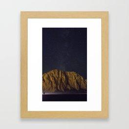Morro Rock Midnight Framed Art Print