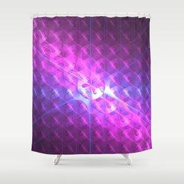 Shiny Purple Button Shower Curtain