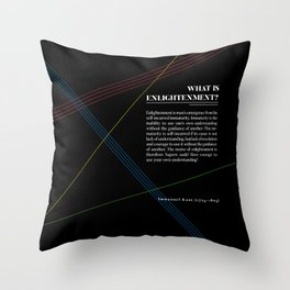 Philosophia I: What is Enlightenment? Throw Pillow
