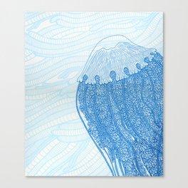Blue Jelly  Canvas Print