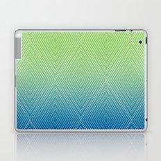 Diamonds (GreenFlashSnorkelBlue Fade) Laptop & iPad Skin