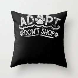 Dog Rescue Animal Shelter Throw Pillow