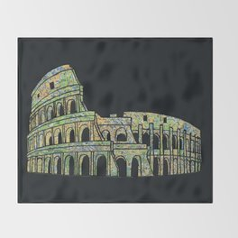 Colosseum Collage Throw Blanket