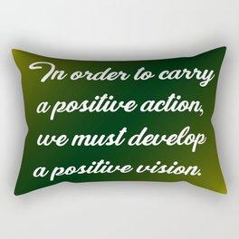 Positive Action Rectangular Pillow