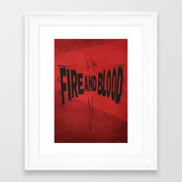 targaryen Framed Art Prints featuring House Targaryen - Fire and Blood by Jack Howse