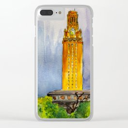 UT Tower - Shines to welcome new students to campus Clear iPhone Case
