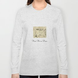 Parisian French Script Long Sleeve T-shirt