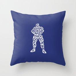Soldier 76 Type illustration Throw Pillow